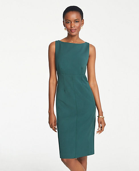 Petite Doubleweave Seamed Sheath Dress