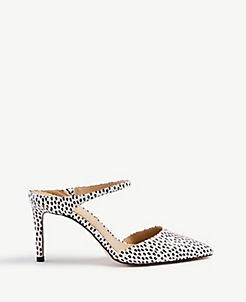 14ed37771ea Jodie Snakeskin Print Leather Mule Pumps