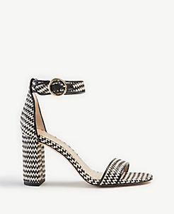 6daa5a67d3d Leannette Straw Block Heel Sandals