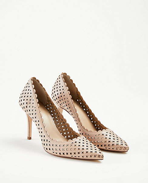 78f3ced5fcb ... Mila Scalloped Perforated Leather Pumps. previous image next image