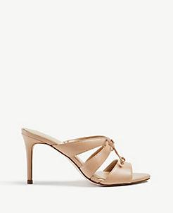 f730655de16 Mathilda Bow Heeled Leather Sandals