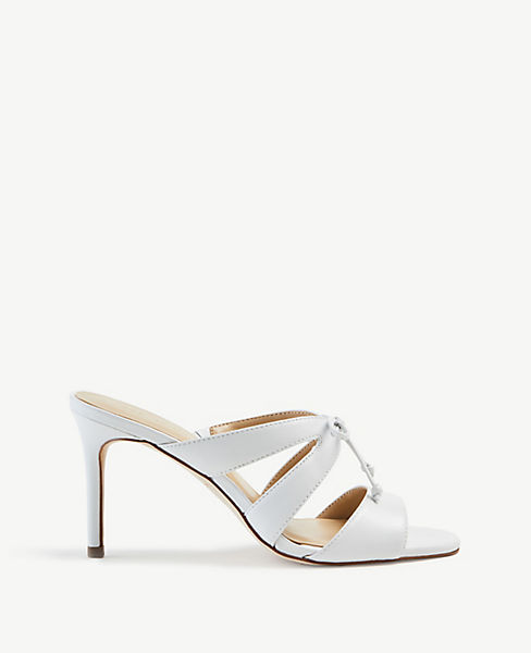 Mathilda Bow Heeled Leather Sandals by Ann Taylor