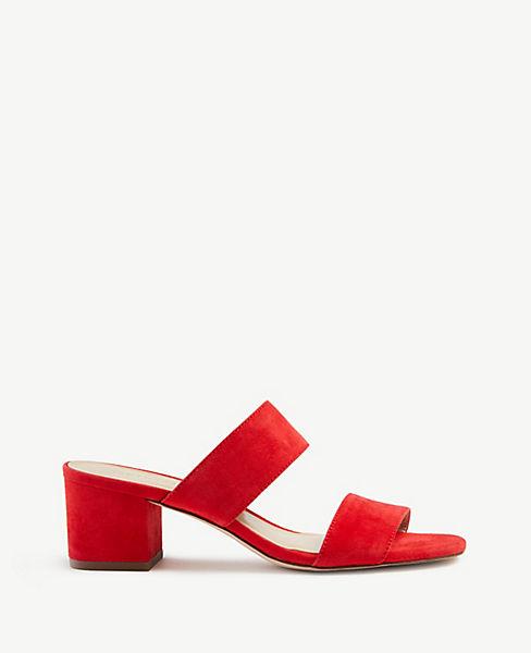 Liv Suede Block Heel Sandals by Ann Taylor