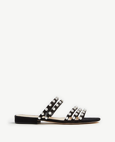 Avila Pearlized Flat Sandals by Ann Taylor