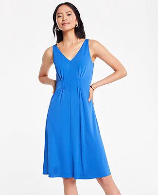 ANN TAYLOR PLEATED FLARE DRESS