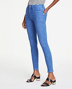 604be850fa16b1 Petite Performance Stretch Skinny Jeans in Bright Mid Indigo Wash