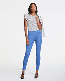 17a4afd423 Image 3 of 3 - Petite Performance Stretch Skinny Jeans in Bright Mid Indigo  Wash
