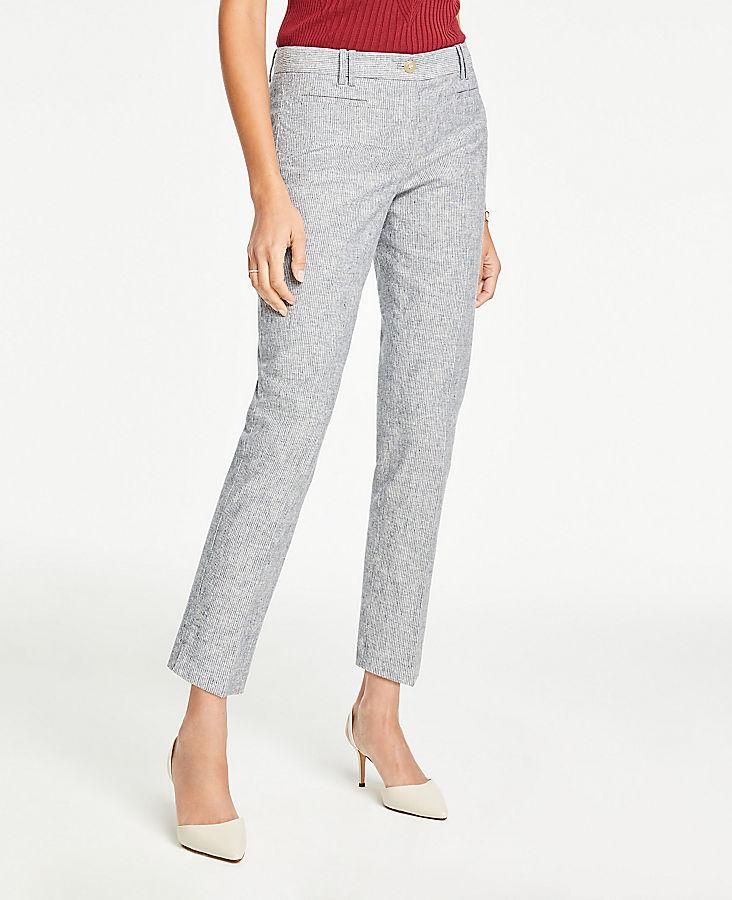 863c3e08f1 The Petite Cotton Crop Pant in Stripe | Ann Taylor