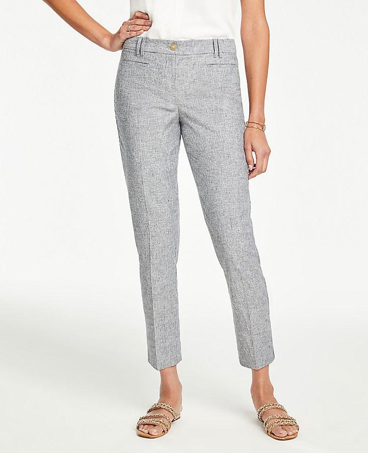 2d08a9a5d7 The Cotton Crop Pant in Stripe - Curvy Fit | Ann Taylor