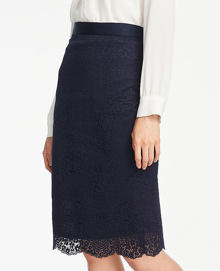 88e0c028601d3d Petite Lace Pencil Skirt | Ann Taylor