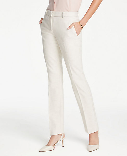 The Petite Straight Leg Pant In Texture - Curvy Fit