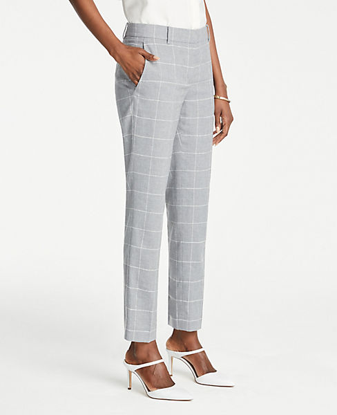 The Petite Ankle Pant In Windowpane