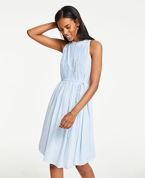 Ruffle Pleated Shift Dress by Ann Taylor