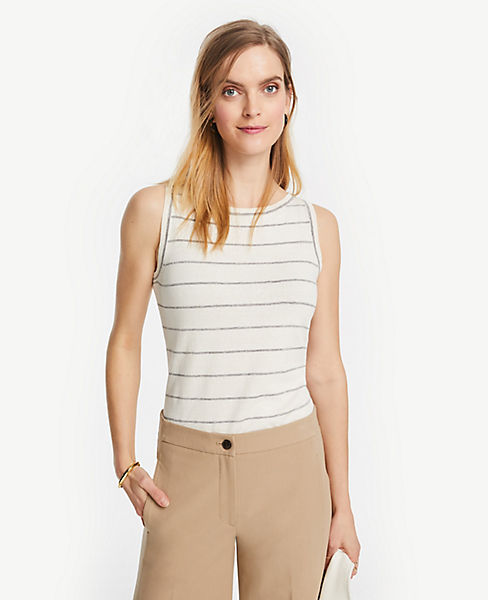 Petite Striped Sweater Shell