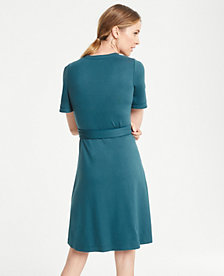 ca9f43eb87 Image 2 of 3 - Piped Flutter Sleeve Wrap Dress
