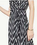 5fe23041ebe Image 4 of 4 - Tall Ikat Belted Wrap Dress