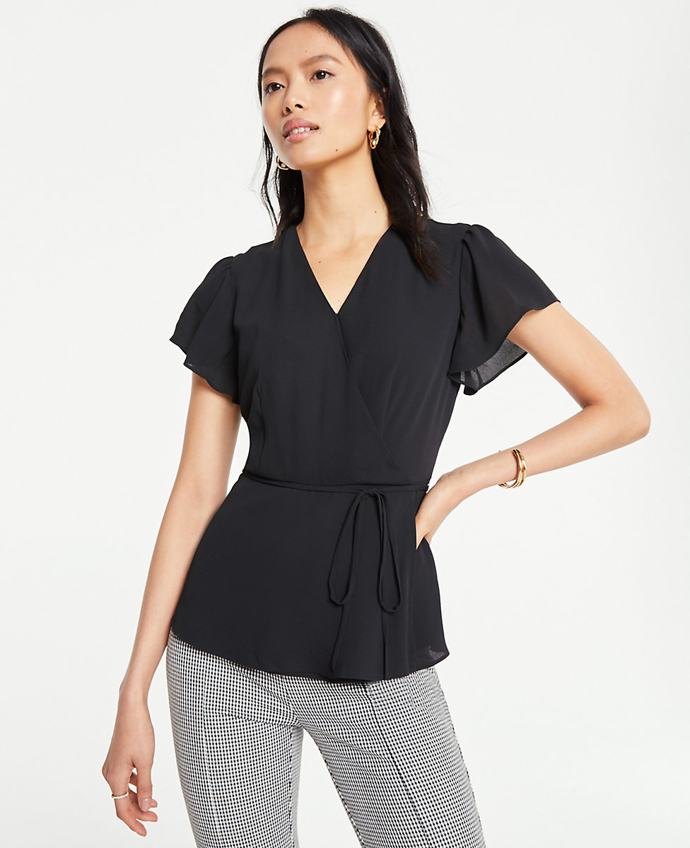 Belted Wrap Top