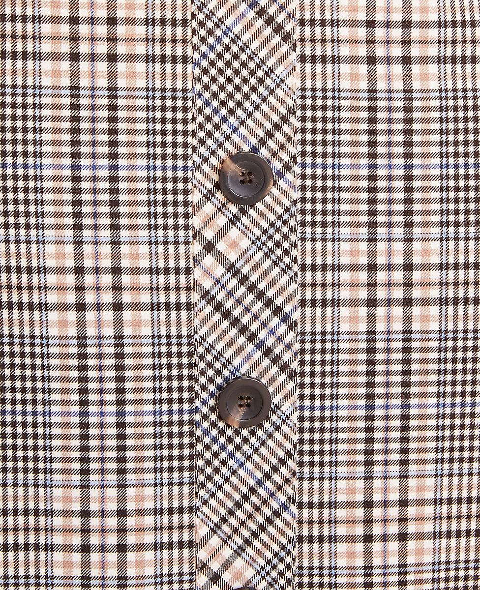 Plaid >> Plaid Button Front Pencil Skirt Ann Taylor