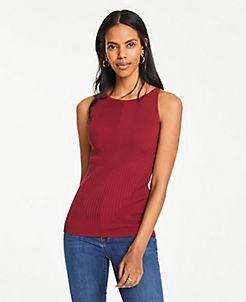 d66799eca95 Petite Ribbed Sweater Shell
