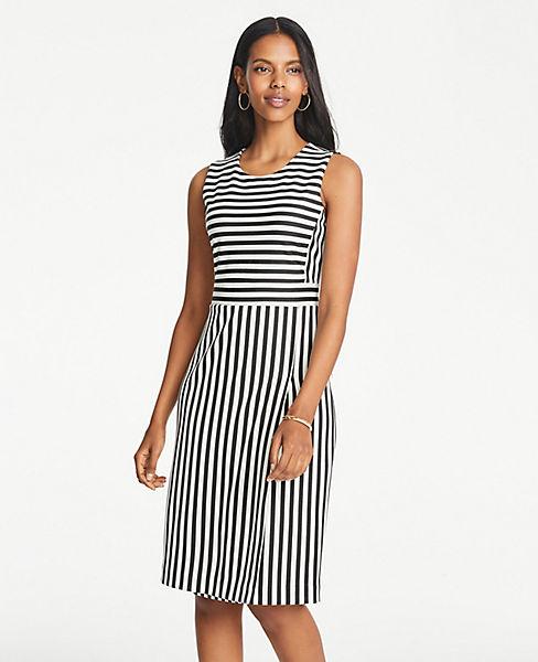Petite Striped Knit Sheath Dress
