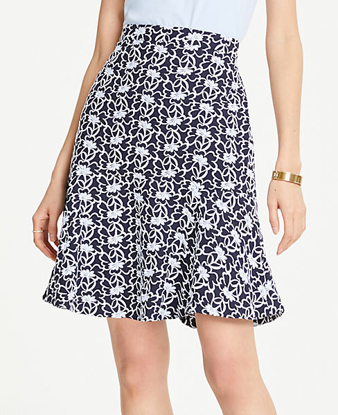 Petite Lace Peplum Skirt