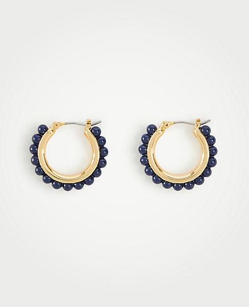 45d36d3a8 Beaded Hoop Earrings | Ann Taylor