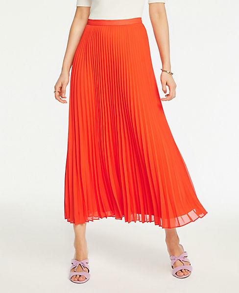 30ef4b1186 Petite Pleated Maxi Skirt   Ann Taylor
