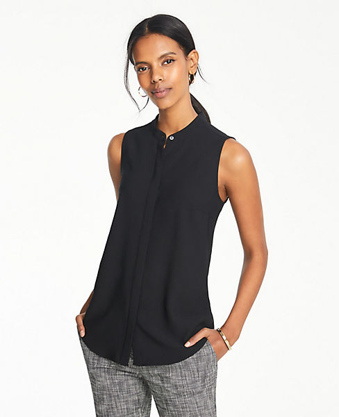 965db077 Petite Sleeveless Button Down Top | Ann Taylor