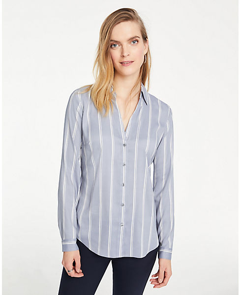 Petite Striped Essential Shirt