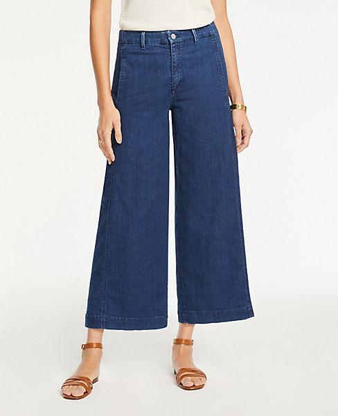 The Petite Denim Marina Pant In Refined Mid Indigo Wash