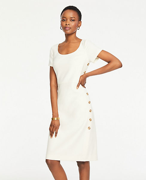 9115ac606d Tall Doubleweave Side Button Sheath Dress | Ann Taylor
