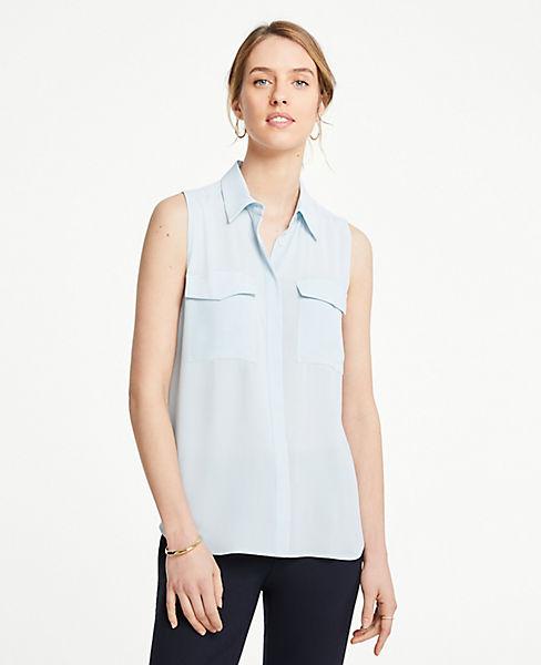 Petite Sleeveless Camp Shirt