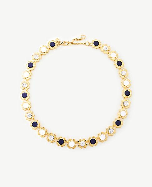 Enamel Flower Necklace by Ann Taylor