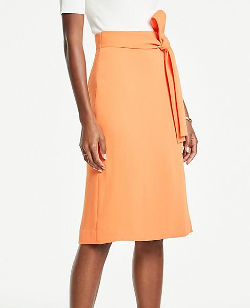 Tie Waist Midi Wrap Skirt by Ann Taylor