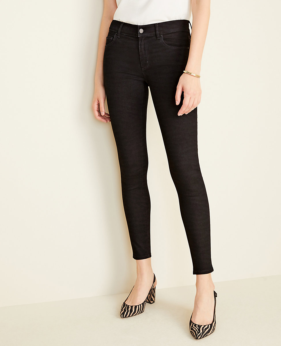Petite Performance Stretch Skinny Jeans in Zebra Print