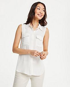 9b484aafd Petite Tops & Blouses for Women | ANN TAYLOR