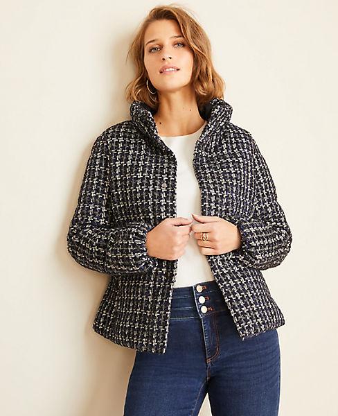 Tweed Puffer Jacket