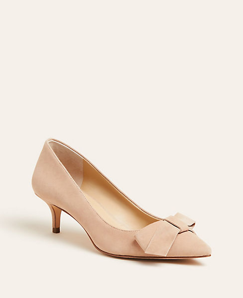 Reese Suede Bow Pumps