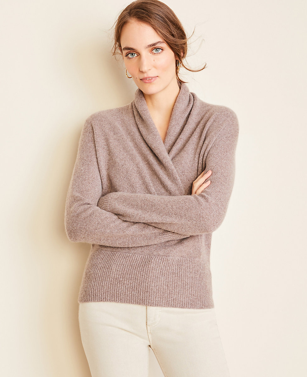 Cashmere Wrap Sweater Ann Taylor