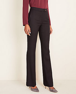 Ann Taylor THE MADISON HIGH WAIST TROUSER IN MARLED GLEN PLAID - CURVY FIT