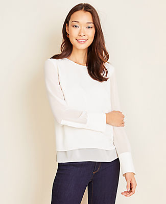 Ann Taylor LAYERED BLOUSE