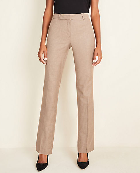 The Straight Pant In Melange   Curvy Fit by Ann Taylor