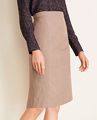 Ann Taylor THE PETITE PENCIL SKIRT IN MELANGE SIZE 10 WARM NEUTRAL MELANGE WOMEN'S
