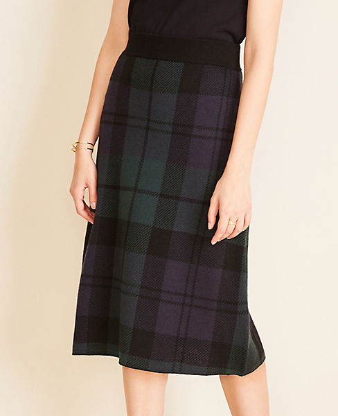 Blackwatch Plaid Sweater Skirt
