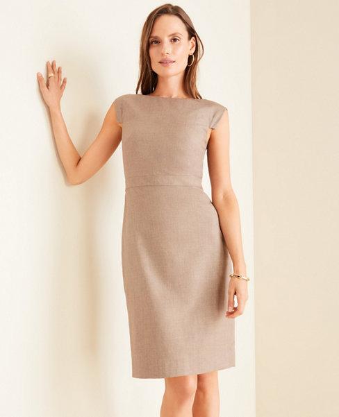 The Boatneck Dress in Melange