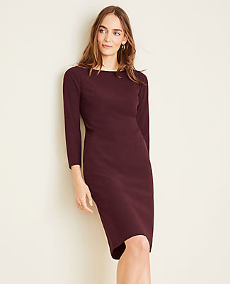 Ann Taylor THE TALL BOATNECK DRESS IN BI-STRETCH