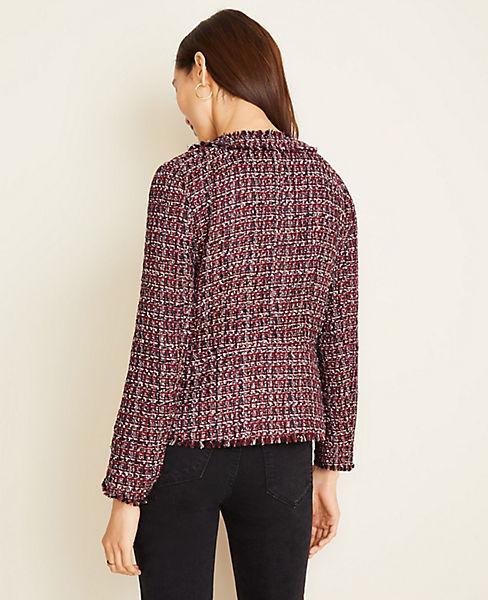 $57.2 ( Was $159 ) Fringe Tweed Jacket @Ann Taylor