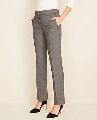 Ann Taylor THE STRAIGHT PANT IN DOBBY - CLASSIC FIT