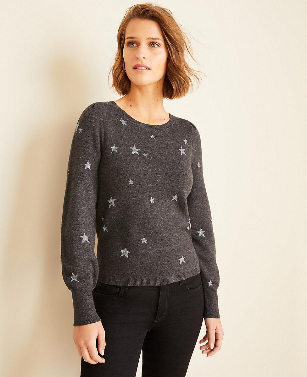 Star Puff Sleeve Sweater | Ann Taylor
