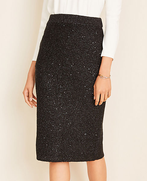 Sequin Sweater Pencil Skirt